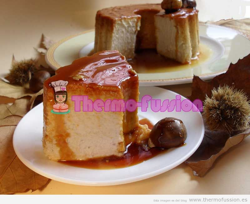 FLAN DE CASTAÑAS THERMOMIX THERMOMIX Y FUSSIONCOOK