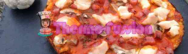 MASA DE PIZZA DE COLIFLOR THERMOMIX Y FUSSIONCOOK