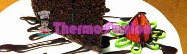 BIZCOCHO ESPONJOSO DE CHOCOLATE THERMOMIX Y FUSSIONCOOK